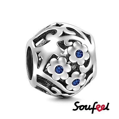 SOUFEEL索菲爾 925純銀珠飾 知足常樂 串珠