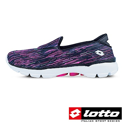 LOTTO 義大利 女 健走步行鞋easywear(黑/桃紅)