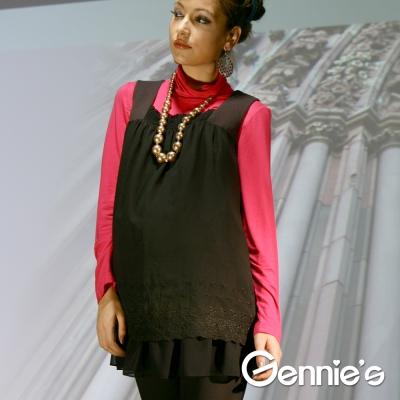 Gennie's奇妮- 個性黑雪紡孕婦背心上衣(C3W07)