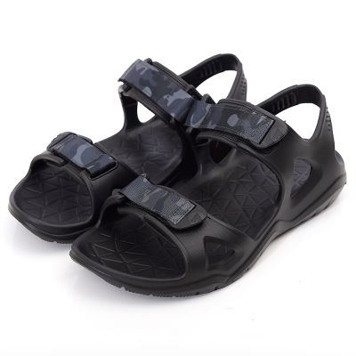 美國AIRWALK減壓緩震輕量休閒涼鞋-黑