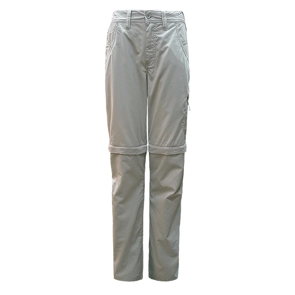 【Berghaus 貝豪斯】女款防潑水抗UV兩截褲S08F01-卡其