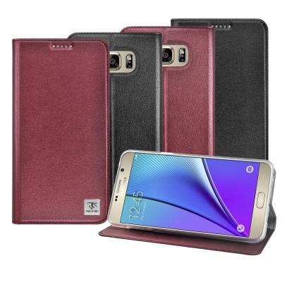 Metal-Slim 三星 Galaxy Note5 半透明TPU側翻站立皮套