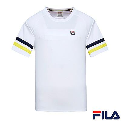 FILA 男圓領T恤-白 1TES-1011-WT