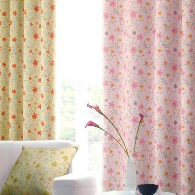 布安於室-花之梅遮光單層穿管式窗簾-落地窗(寬270*高240cm)