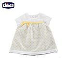 chicco-夏日風情-雙面短袖洋裝-灰(12-24個月)