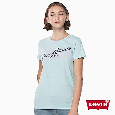 T恤 女裝 短袖純棉TEE 創意字體 - Levis