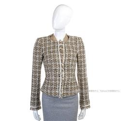 PAOLA FRANI 淺咖色流蘇設計毛呢外套