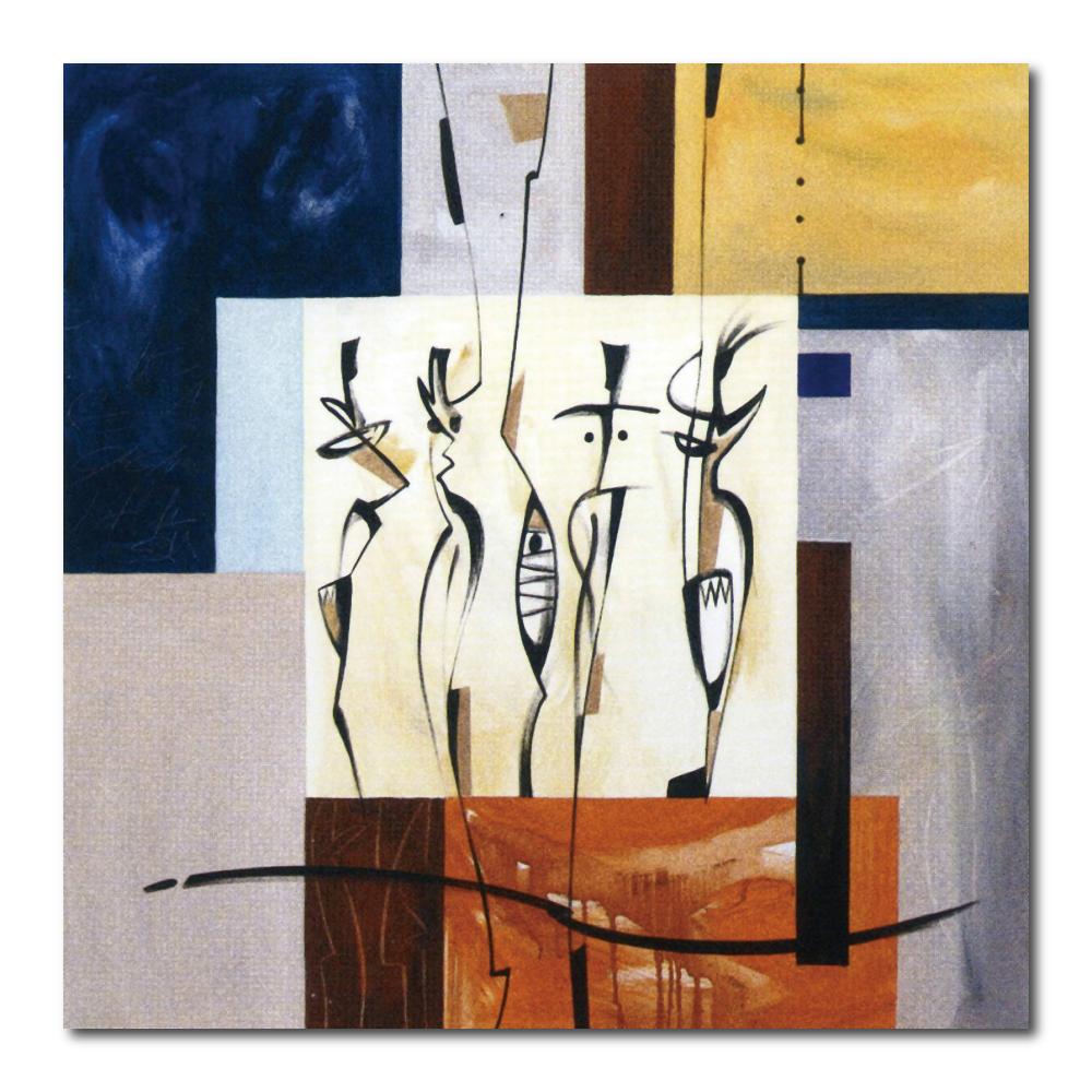 橙品油畫布- 單聯無框圖畫藝術家飾品 - 異想b40*40cm