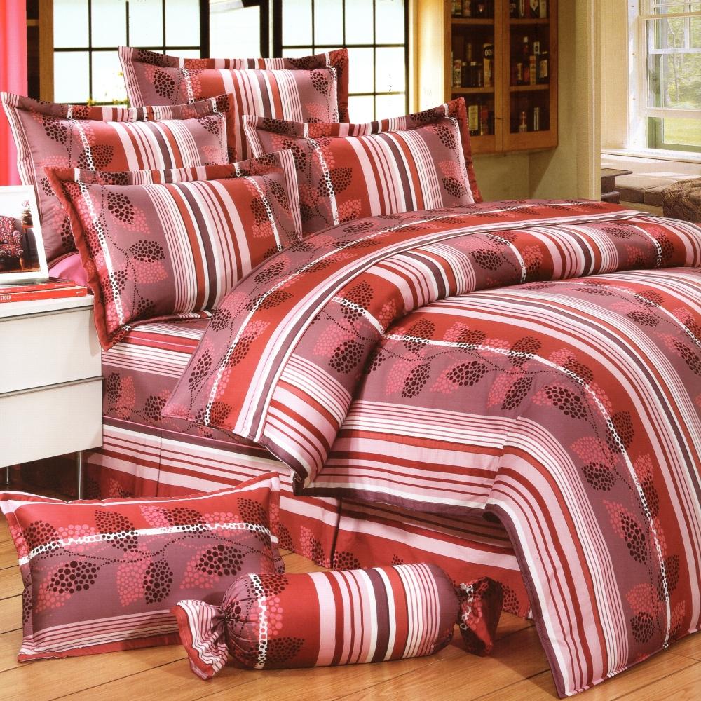 艾莉絲-貝倫 葉葉相連 100%純棉 單人薄被套床包三件組