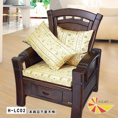 凱蕾絲帝-柔藤緹花-實木椅專用加厚緹花記憶聚合坐墊-54-56CM-4入