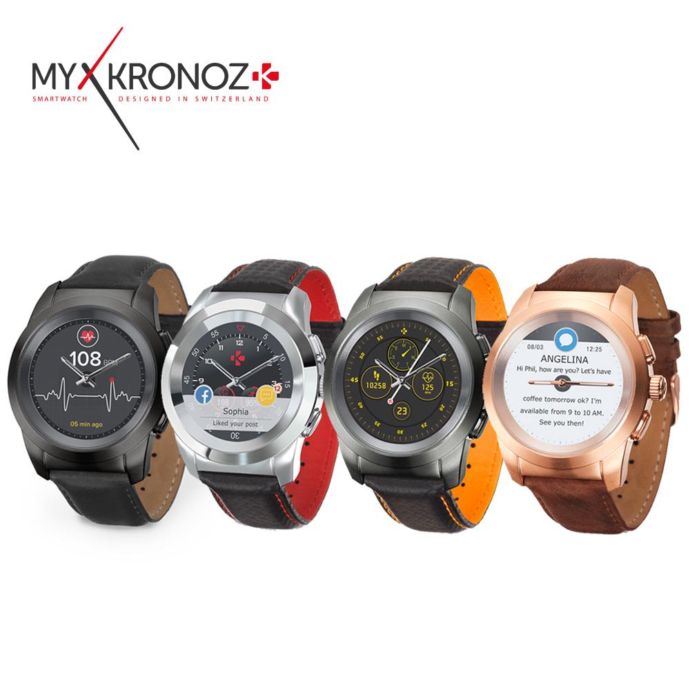 MyKronoz ZeTime 機械指針觸控智慧錶 -皮帶 @ Y!購物