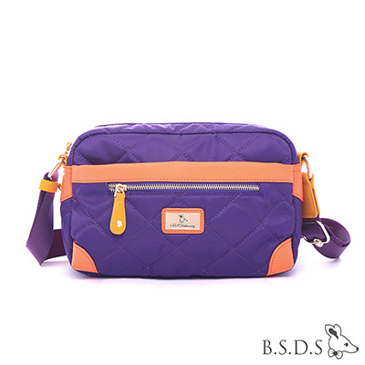 B.S.D.S冰山袋鼠-蘭姆嘉年華x經典淑女款壓角側背包-葡萄紫