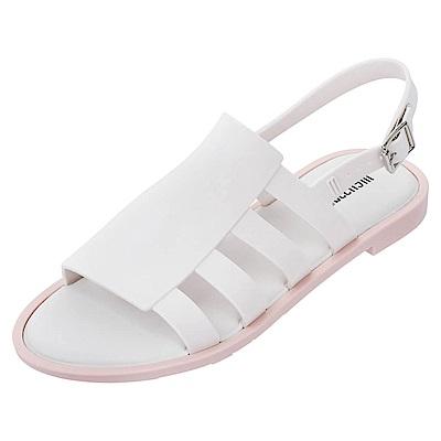 Melissa 波希米亞風平底涼鞋-白色