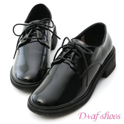 D-AF-個性攻略-基本款漆皮綁帶馬汀鞋-黑