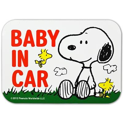 史奴比BABY IN CAR車身軟性磁鐵警告貼 SN-34