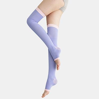 足下物語 台灣製360丹聰明涼感曲線睡眠襪(紫色)