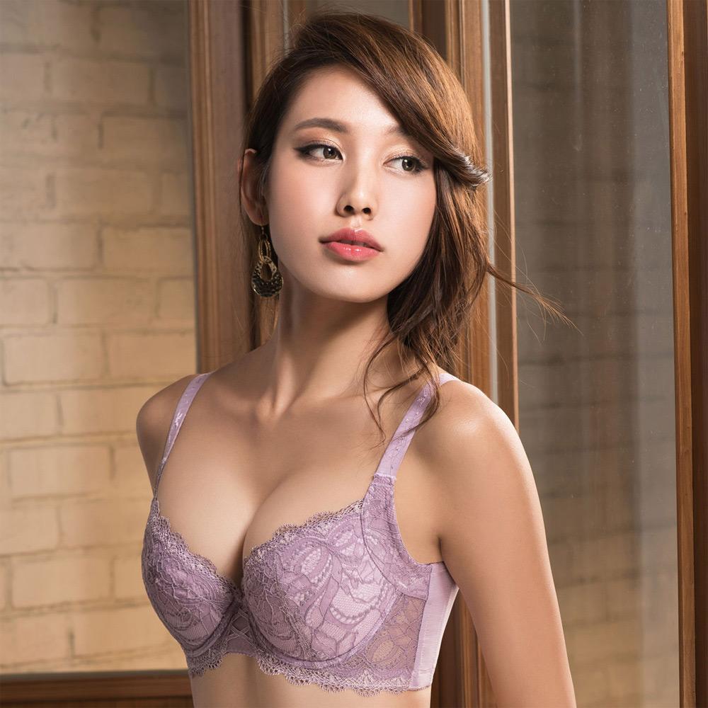 摩奇X 挺魔力大V背 B-C罩杯內衣(粉膚紫)