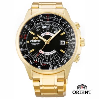 ORIENT 東方錶 MULTI 萬年曆機械錶-黑色/44mm