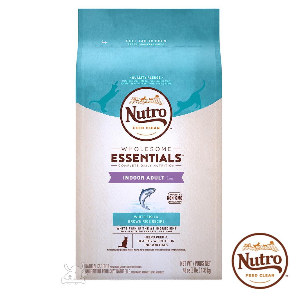 Nutro 美士 全護營養 室內成貓化毛配方(白身魚+糙米)6.5磅 X 1包