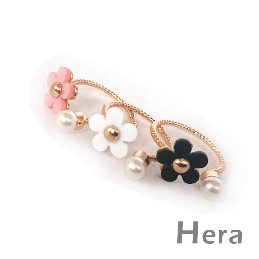 Hera赫拉 雛菊小花珍珠開口戒指/微調戒(三色任選)