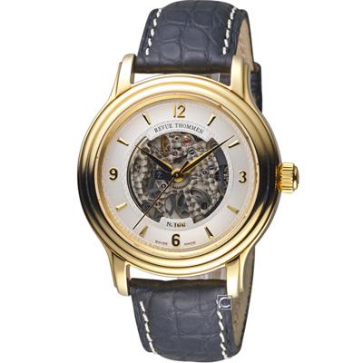REVUE THOMMEN梭曼縷空經典機械腕錶(12200.2512)-41mm
