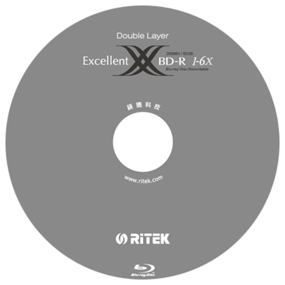錸德 Ritek 藍光 X版 BD-R 6X DL 50GB 可燒錄光碟片(50片)