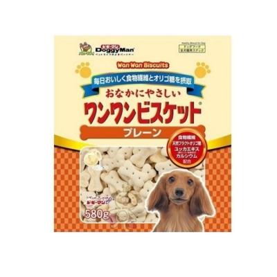 日本DoggyMan《寡糖添加原味消臭餅乾》580g