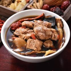 (任選)艾其肯養生雞湯 十全藥膳排骨(450g/包)