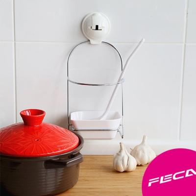 FECA非卡-無痕強力吸盤 伯爵不鏽鋼湯勺架