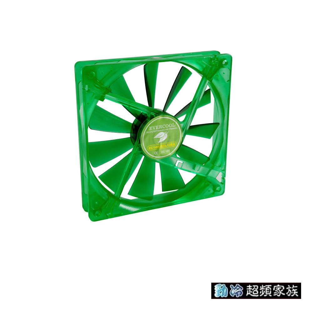 EVERCOOL勁冷超頻家族 14公分綠色擐保系統風扇(EGF-14)