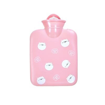 微甜馬卡龍保暖熱水袋/暖手袋 400ml (粉色小貓)