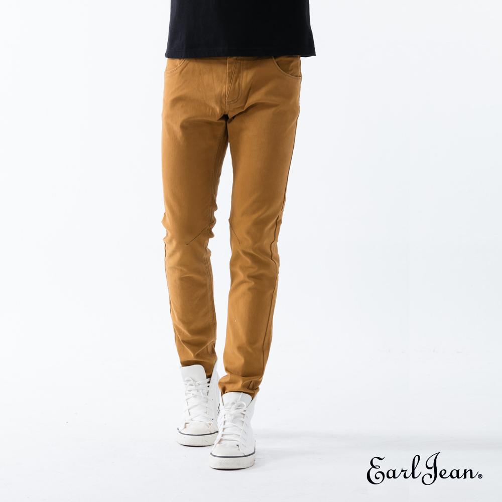 Earl Jean超輕磨毛黃褐色窄管褲-黃褐-男