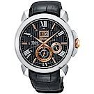 SEIKO精工 Premier 人動電能萬年曆手錶(SNP149J2)-42.9mm
