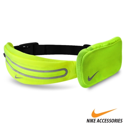 NIKE 擴充式薄型腰包(附小袋)-螢光綠款- 快速到貨