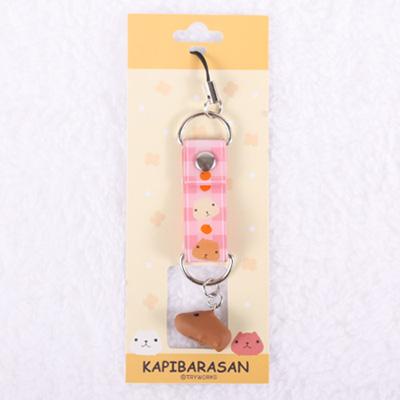 Kapibarasan 水豚君田園農場立體小公仔吊飾-粉格