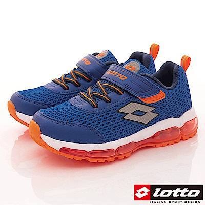 Lotto義大利運動鞋 輕量氣墊避震款 RSI556藍 (中大童段)