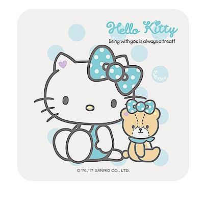 【收納皇后】Hello Kitty繽紛彩繪杯墊/皂盤-水藍泡泡