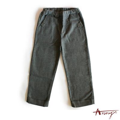 紳士條紋雙口袋鬆緊長褲*2491灰
