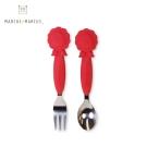 【麗嬰房】MARCUS&MARCUS 動物樂園不鏽鋼叉匙餐具組(獅子)