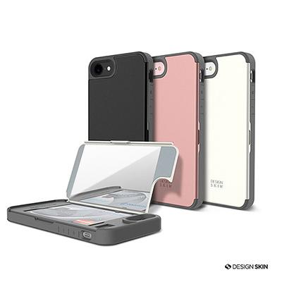 DesignSkin iPhone 7 掀蓋式鏡面插卡手機保護殼