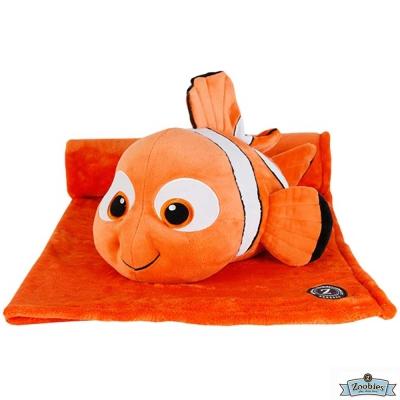 Zoobies 迪士尼Disney 尼莫款 玩偶抱毯/嬰兒毯/毛毯 彌月禮盒