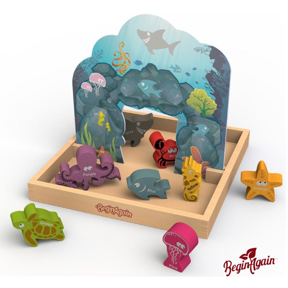 美國 Begin Again 純木質故事玩具 (海洋世界顏色系列)