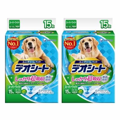 日本Unicharm消臭大師 超吸收狗尿墊 4L號 15片裝 x <b>2</b>包
