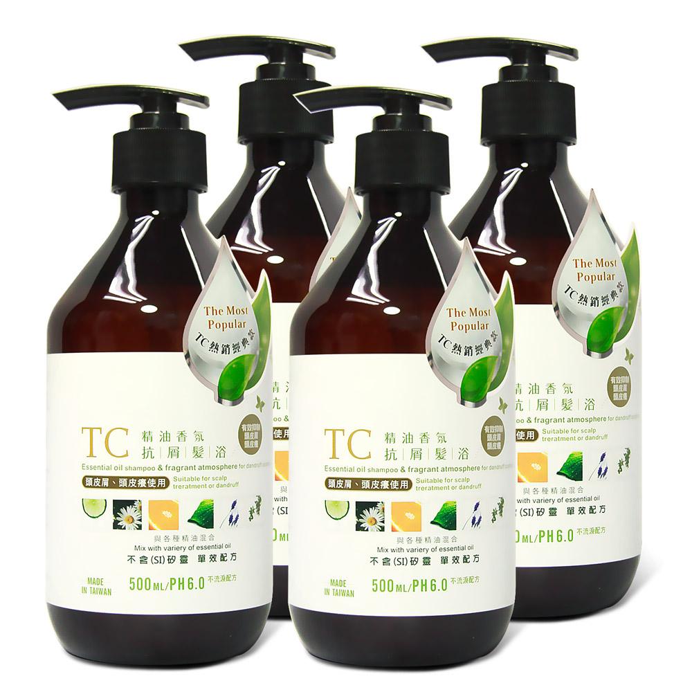 TC系列 精油香氛抗屑髮浴(500ml)4入組