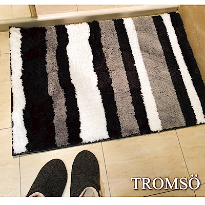 TROMSO凱薩頂級厚絨毛吸水大地墊-奢華黑爵