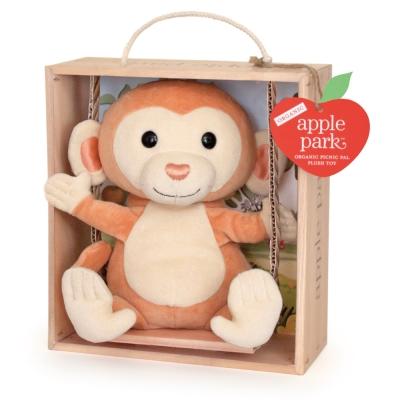 美國 Apple Park 盪鞦韆玩偶彌月禮盒 - 小猴子
