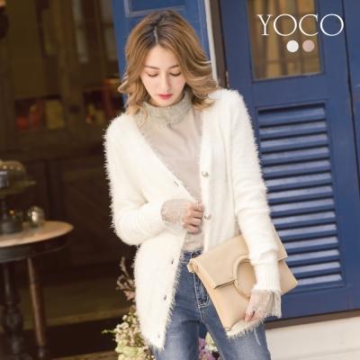 東京著衣-yoco 空氣感美人毛海針織外套-S.M.L(共二色)