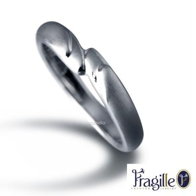 彩糖鑽工坊 相擁系列 925銀戒指(窄版)