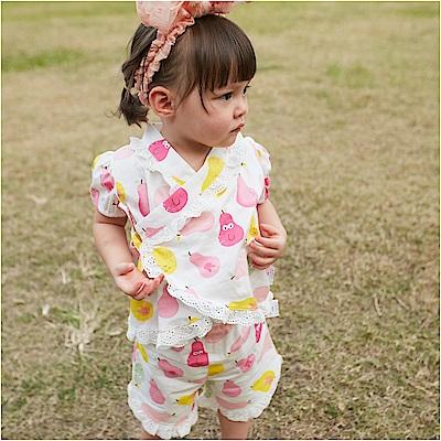 baby童衣 套裝 蕾絲造型和服上衣+短褲 80073