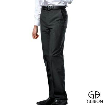 GIBBON 涼感吸排平口西裝褲‧格紋灰31-42